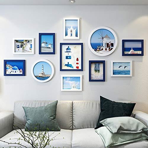 FEE-ZC Cadre Mur de Photos Cadre de Photo de décoration Salon Chambre à Coucher Simple et Moderne, idées de Mur Suspendu Ensemble Suspendu Design à la Mode (Couleur: G)