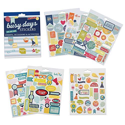 Boxclever Press Busy Days Planersticker, Scrapbook Sticker. Goldfolie-, Vinyl- und gepolsterte Aufkleber für Planer & Bullet Journals (Events & Anlässe)
