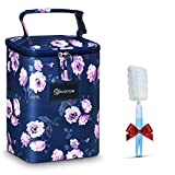 Insulated Breastmilk Cooler and Baby Bottle Bag, EIVOTOR 【2020 Newest】Fit up to 6 Large 8oz Bottles and Ice Pack, Easy to Carry