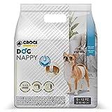 Croci C6028711 Pañales desechables forma de banda para perros Macho, Pequeño (S), 30 - 40 cm, Juego de 12