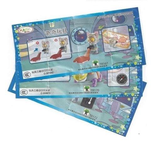 Kinder Surprise Space MISSION Limited Edition Set completo di 3 Cina Mega Rare