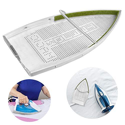 MONSIVILIA Cubierta de hierro premium para zapatos de hierro antiadherente, cubierta protectora de placa de aluminio para planchado, accesorios para plancha eléctrica