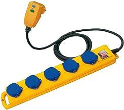 Brennenstuhl Super-Solid SL 544 D FI stekkerverdeler/outdoor stekkerdoos (voor gebruik op bouwplaatsen en continu gebruik ...