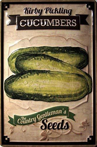 Het Land Gentlemans Zaden Komkommers Metalen Tin Plaat Teken Tin Teken 20 x 30 CM