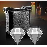 ALXDR Créateur De Cube De Diamant De Glace Limpide, Moule De Glaçon De Diamant Géant Transparent en Cristal pour Le Vin, Les Cocktails Et Les Boissons À Base De Whisky