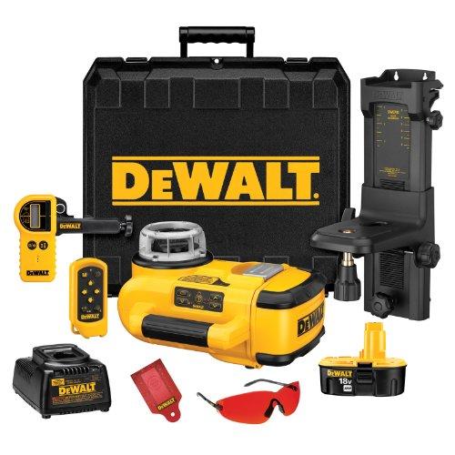 DEWALT DW079KD 18-Volt Self Leveling Interior/Exterior Rotary Laser Kit with Laser Detector -