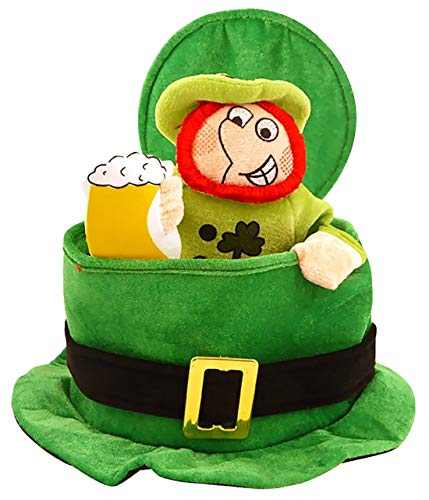 Fancy Dress St Patricks Irish Ireland Eire Top Hat Green With Leprechaun Man by Pinsbury
