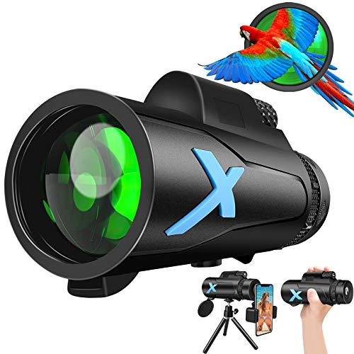 Best Price Fordim Monocular Telescope, 12X50 High Power HD Monocular with Smartphone Holder & Tripod – with Durable and Clea Focus for Bird Watching, Camping, Hiking
