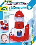 Lena 65472 - Wasserspaß Leuchtturm, Badespielzeug aus Kunststoff, Spielset mit Leuchtturm,...
