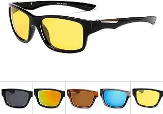SGJFZD Men's Sports Windshield UV400 PC Sunglasses Outdoor Cycling Glasses Men's Polarized Sunglasses (Color : Yellow)