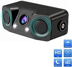 CarThree HD Backup Camera 2 LED Night Vision with 2 Radar Parking Sensor 170 Degree Viewing Angle HD Waterproof Car Rear View Camera