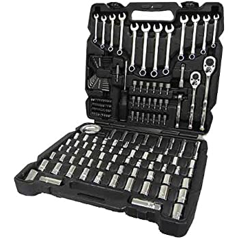 Channellock Mechanics Tool Set | 171 Piece Socket Wrench Set for Auto Repair | Full Polish Chrome Toolset Features SAE & Metric Combination Wrenches for Torque, Strength and Durability