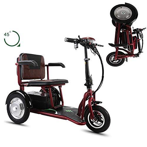 CHHD Faltbarer elektrischer Rollstuhl Tragbarer elektrischer 3-Rad 48V20A Lithiumbatterie/700W Motor/Batterielebensdauer 55 km älteres Outdoor-Roller-Dreirad