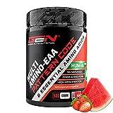 EAA en polvo - 532 g - Sandía de fresa - Fórmula MAP - Los 8 aminoácidos esenciales - Bebida de entrenamiento de aminoácidos - Sabor delicioso - Vegano