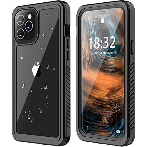 ANTSHARE - Custodia impermeabile per iPhone 12 Pro Max da 5G, protezione per schermo integrata, antiurto, antipolvere, IP68, impermeabile, per iPhone 12 Pro Max 7,7'
