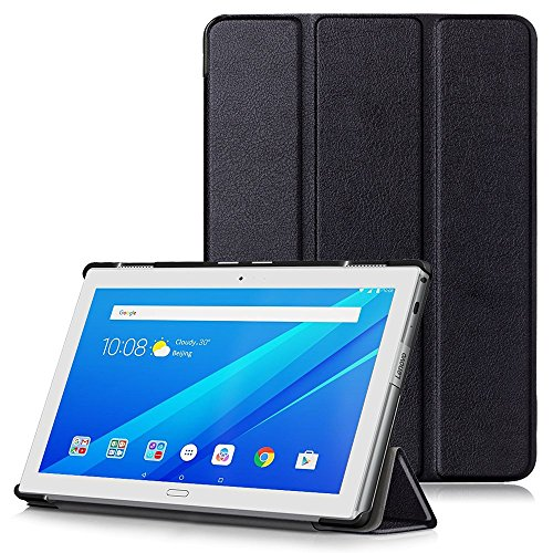 Lenovo Tab 4 10 Plus Case, Ultra Slim Lightweight Smart Shell Stand Cover with Auto Wake/Sleep Function for Lenovo Tab 4 10 Plus Tablet 2017 Release, Black