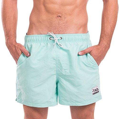 Taddlee Men Swimwear Swimsuits Swim Beach Board Surf Shorts Quick Drying Trunks (M, Light Green)