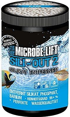 MICROBE-LIFT silicone-Out 2–(qualité silice décapant pour chaque Eau Douce et Eau de Mer Aquarium, à base d'aluminium, enlève rapidement et en toute sécurité, Phosphate, de baryum borosilicate, Arsenic, chrome et jaune substances, améliore la qualité de