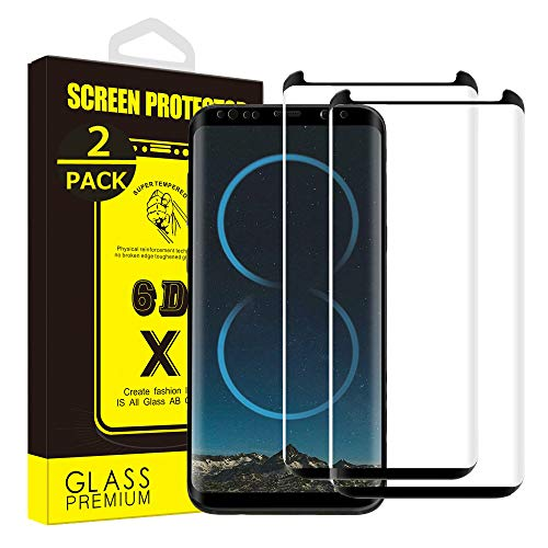 [2 Pack] Yoyamo T512 Galaxy S8 Plus Glass Screen Protector,9H Hardness Anti-Scratch Tempered...