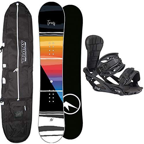 Trans Herren Snowboard Set LTD ORANGE 153 cm 2020 + Star BINDUNG GR. M + Bag