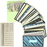 Cash Envelopes Money Budget Planner- (24 Pack) Budget Envelopes -6 Assorted Cute Colored Money Envelopes System for Cash Saving – Ideal Cash Envelope System Wallet Organizer (24 Pack)