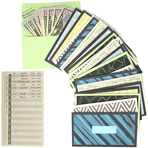 Cash Envelopes Money Budget Planner- (36 Pack) Budget Envelopes -6 Assorted Cute Colored Money Envelopes System for Cash Saving – Ideal Cash Envelope System Wallet Organizer for Budgeting Cash Flow