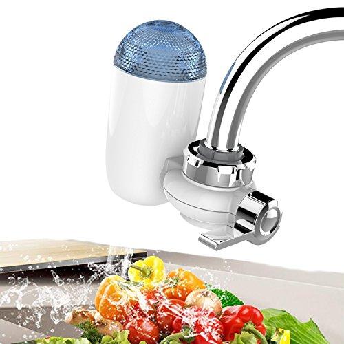 PowerLead Wasserhahn Wasserfilter Wasser Filtration Wasserhahn Wasserhahn Wasser Filter System mit 2 Mineral Clear Filter
