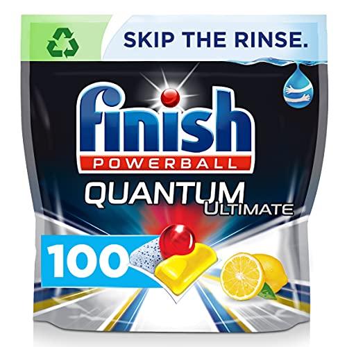 Finish Quantum Ultimate Dishwasher Tablets, LEMON, 100 Tablets