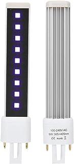 Bombilla para lámpara de uñas, bombilla ultravioleta de aleación de aluminio, duradera para salón profesional en casa