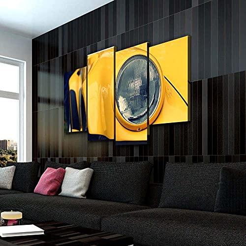 KOPASD 4 Cuadros en Lienzo Cupé Faros Impresión HD, Diseño de la Naturaleza, con Marco Creativo