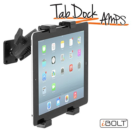 iBOLT TabDock AMPs - Heavy Duty Drill Base Mount for All 7' - 10' Tablets (iPad, Samsung Tab) for Cars, Desks, Countertops: Great for Commercial Vehicles, Trucks, Homes, Schools, and Businesses
