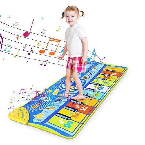 RenFox Alfombra Piano de Suelo Alfombra Musical de Teclado Alfombrilla Musical Tapete Baile Estera...
