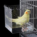 Aceshop Bañera para Pájaros Cuenco de Baño Acrílico Transparente Caja...