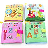 Little Bado Baby Books 4 Set Early Learning Development Toy for Babies ABC 123 Shapes Animals...