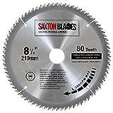 <span class='highlight'><span class='highlight'>Saxton</span></span> TCT Circular Wood Mitre Saw Blade 210mm x 80T x 25.4mm Bore fits Evolution Rage Saws