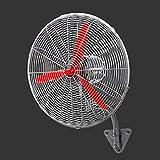 Ventilador Ventilador de Pared/Pedestal, Motor de CC Potente y de Baja Energía, Aspas de Ventilador de Aluminio Dobles, 3 Velocidades, 3 Modos de Funcionamiento, 90 ° Ventilador Industrial Oscilació