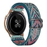 Apbands Correa 22 mm Compatible con Samsung Galaxy Watch 46mm/Galaxy Watch 3 45mm/Gear S3 Frontier/Classic Nylon Loop para Amazfit GTR 47mm/Stratos Correa Deportiva 22 mm de Liberación Rápida