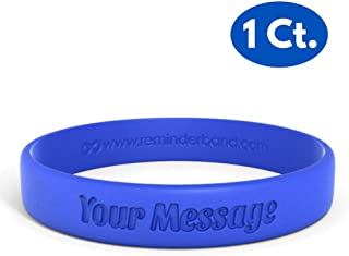 Classic Custom 100% Silicone Wristband - Personalized Silicone Rubber Bracelet - Customized, Events, Gifts, Support, Causes, Fundraisers, Awareness - Men, Women, Kids