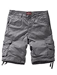 Classic loose fit, straight leg cargo shorts Sits at waist, zip fly and button closure, drawstring tie at waist and belt loops Generous sized multi-pockets, great for any outdoor activity Breathable, high quality, sturdy fabric. Very comfortable to w...