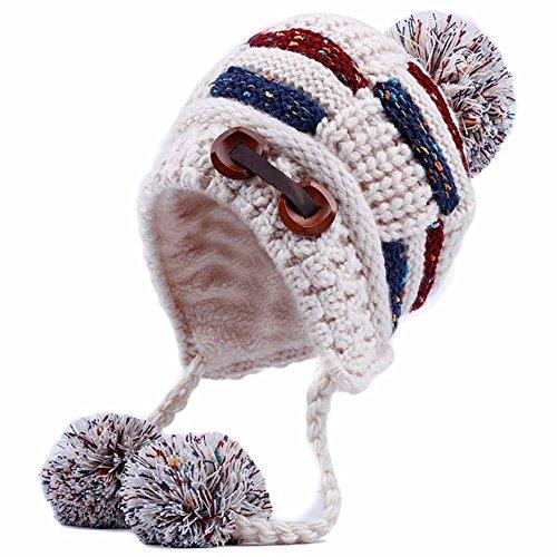 BLANCHO BEDDING Moda Sombrero De Punto Invierno Caliente Oído Sombrero Gorra De Esquí Sombrero De Esquí Orejeras Al Aire Libre