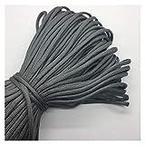 HLWJ 10 Yards/All Dark Gray 7 Strands Bracelet Rope Parachute Line Camping Hiking Line (Color : Deep Gray)