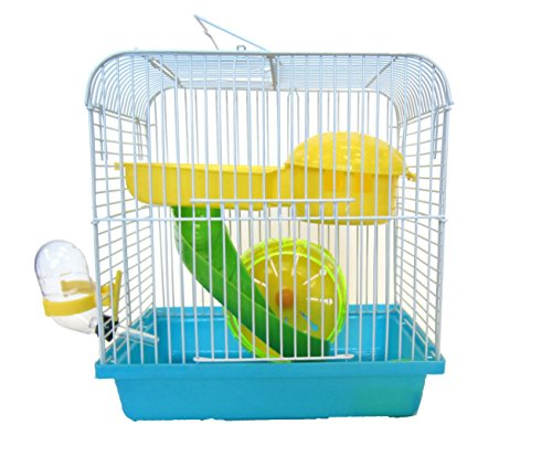 YML Dwarf Hamster Mice Travel Cage with Accessories, Blue