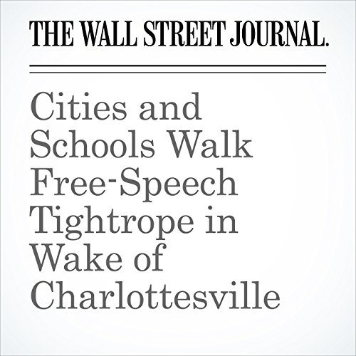 Cities and Schools Walk Free-Speech Tightrope in Wake of Charlottesville copertina