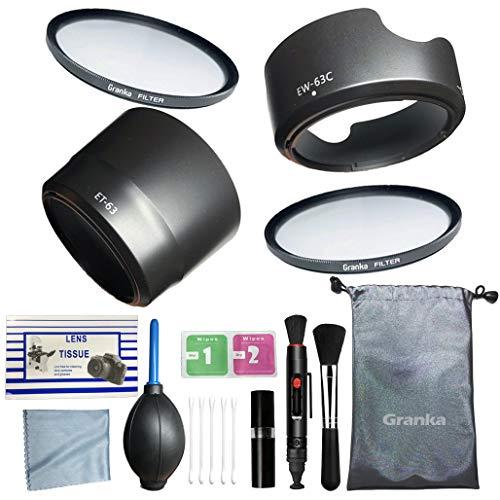 [ 初めての一眼レフに ]カメラ初心者用 入門13点セット [Canon キヤノン EOS Kiss X10 X9i X9 X8i X7i 9000D 8000D 80D 70D ダブルズームレンズキット用] カメラクリーニングキット レンズフード EW-63C   ET-63   58mmフィルター