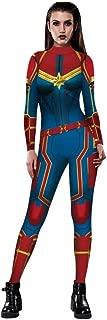 Superhero Captain Halloween Costume Women Sexy 3D Jumpsuit Bodysuit