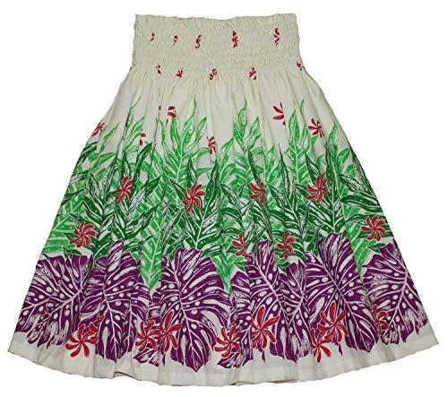 夏威夷pa'u hula裙夏威夷打印花妇女(绿色)