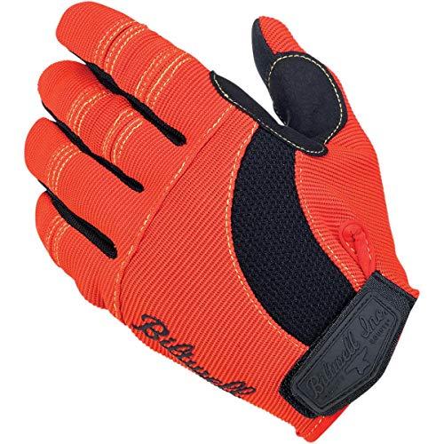 Biltwell Moto Men's Street Motorcycle Gloves - Black/Orange/Yellow/Small