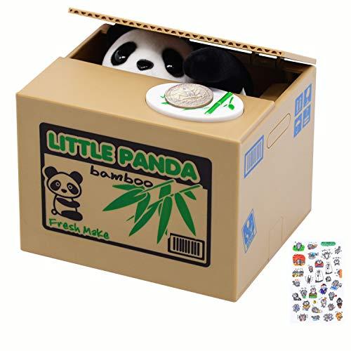 Panda Stealing Piggy Bank, Mischief Panda Coin Bank, Cute Piggy Bank for Kids, Automatic Money Saving Piggy Bank for Boys, Girls, Adults, Great Gift for Children(Panda Version)