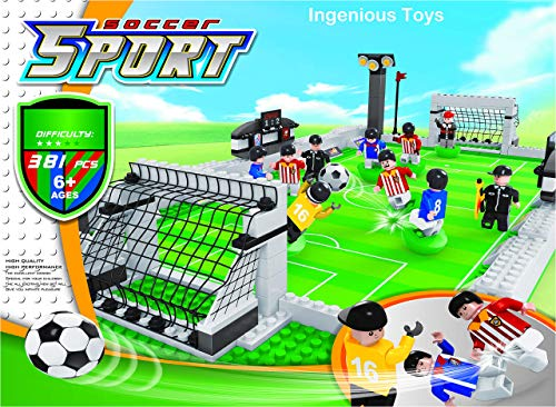 Inspiration Bricks Toys Ausini Calcio Nuovo Scatola / Set Sport Calcio Gioco Giocabile City Pitch #25690