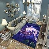 N/U Alfombra Sala De Estar Dormitorio Alfombra Niños Gateando Moderno 3D Impreso Decoración para El Hogar Alfombra Suave Antideslizante E-1727U 140X200Cm